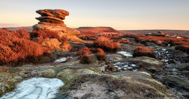 Andrew Colgan - Winter Sunrise On Over Owler Tor