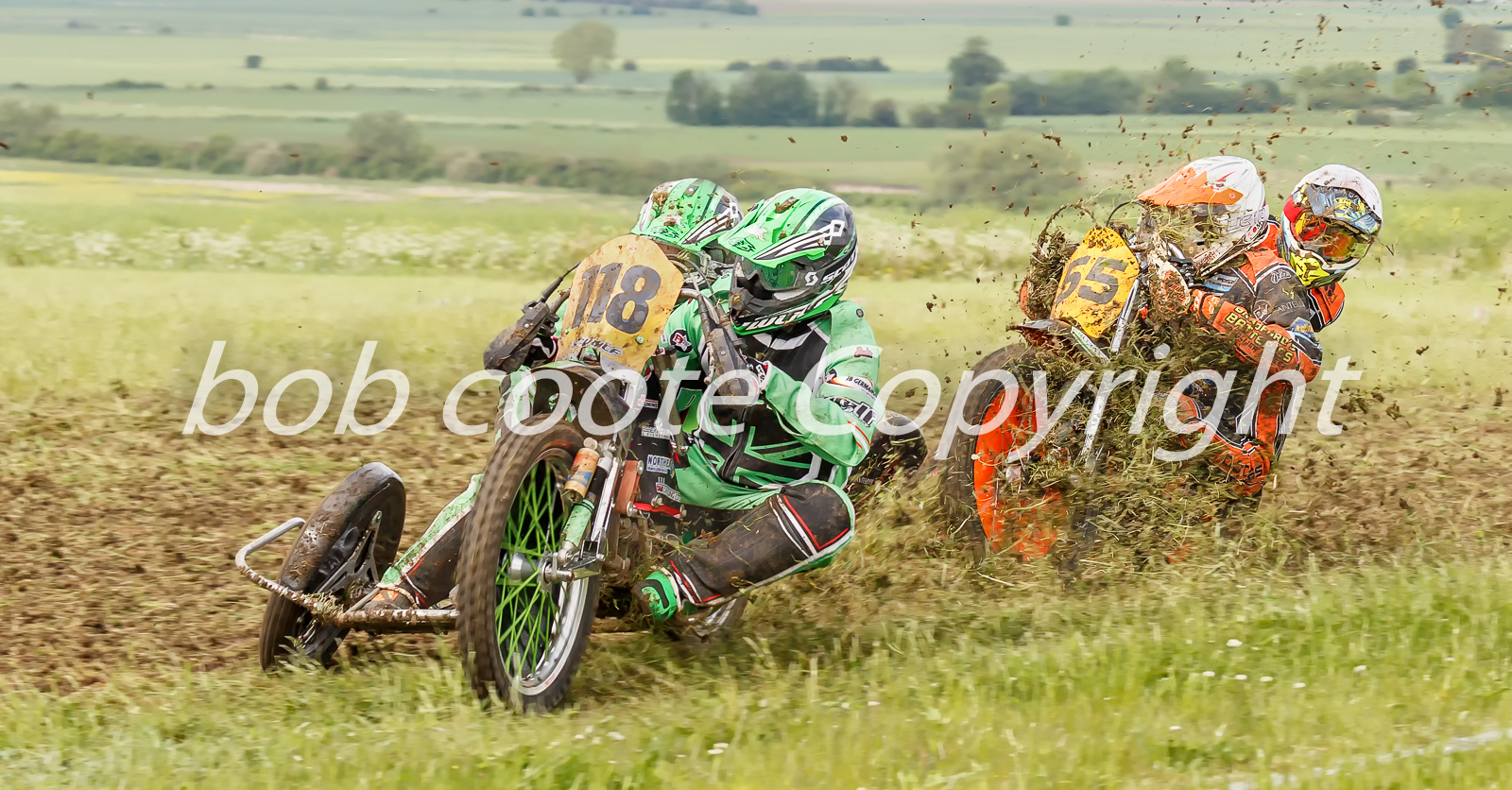 Grass track sidecar racing - Bob Coote