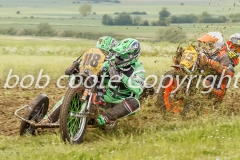 Grass track sidecar racing - Bob Coote