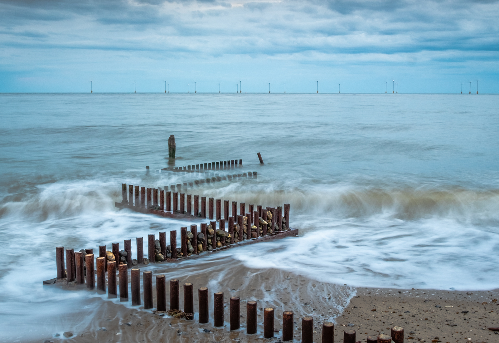 Zig Zag Groyne at Caister on Sea