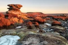 Andrew Colgan - Winter Sunrise On Over Owler Tor