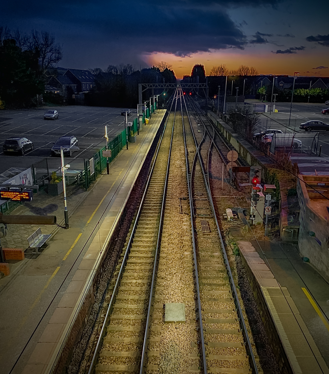 Royston station. Taken on phone for competition