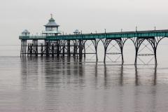 Clevedon Pier on a November grey day